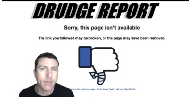 Facebook Deleted Drudge Report Page